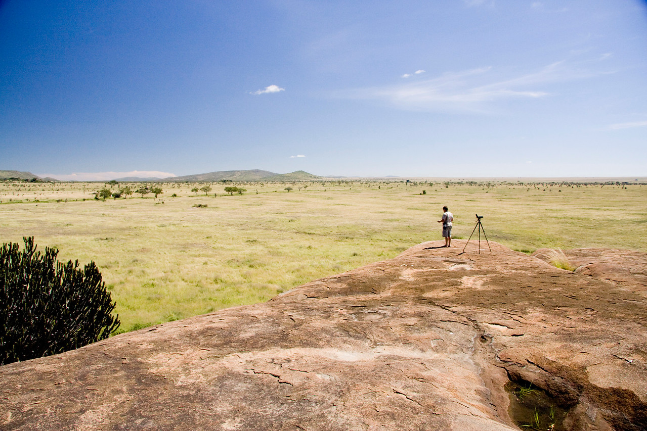 View from Moru Koppies, Seronera, Serengeti National Park. ©Peter Candido All Rights Reserved